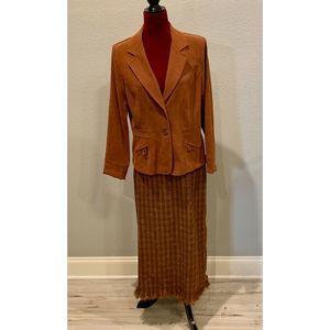 Vintage Prophecy midi skirt and jacket.